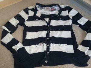 Sweater white-dark blue