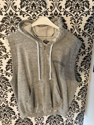 Hooded Vest light grey-grey