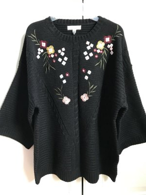 Wild Flower Oversized Sweater black