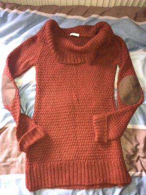 Pullover Winter kragenpullover Strick Rost Farbe 49€