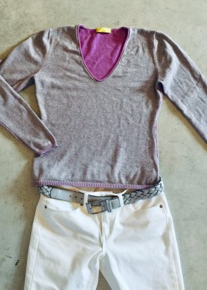 Witty Knitters V-Neck Sweater multicolored