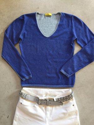 Witty Knitters V-Neck Sweater light blue-blue