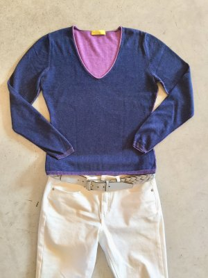 Witty Knitters V-Neck Sweater pink-blue