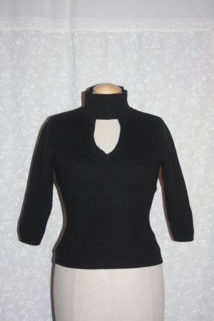 Pullover Wolle MEXX 34 schwarz Cut outs