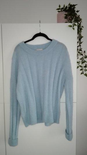 Pullover Wolle Mohair H&M Premium hellblau pastell kuschlig