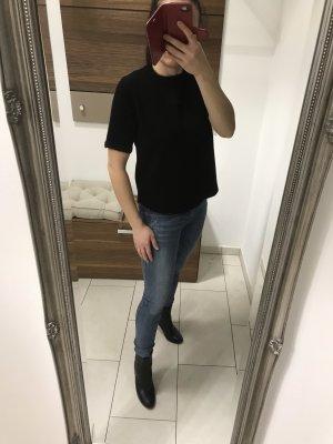 Zara Knit Jersey de manga corta negro