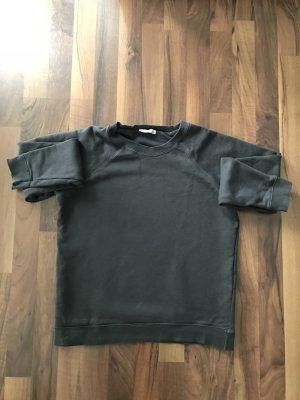 Zara Sweatshirt gris anthracite-gris foncé coton