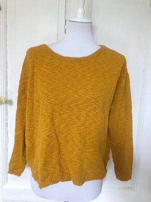 Zara Jersey de punto naranja dorado