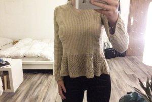 Pullover Zara beige Nude Braun Creme