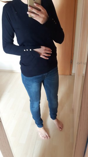 Pullover Zara dunkelblau goldene Knöpfe