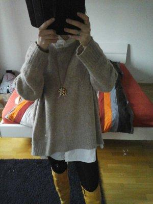 Pullover zara gr. m, oversize, beige,  wie neu