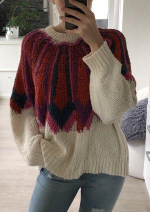Zara Knit Maglione lavorato a maglia multicolore