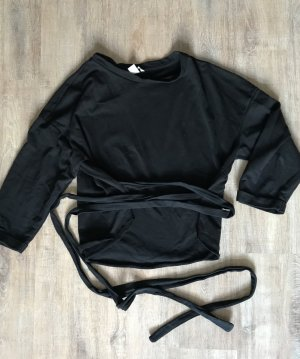 H&M Pull oversize noir coton