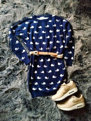 Blugirl Folies Long Sweater dark blue-white polyester