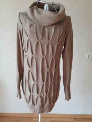 Robe pull marron clair