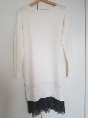 yfl RESERVED Sweaterjurk wit-zwart