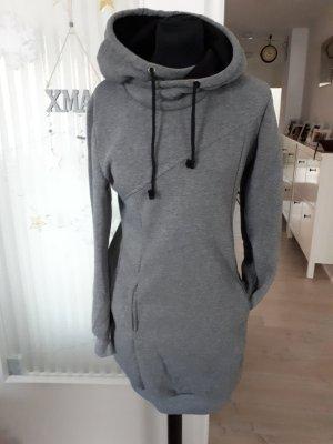 Jersey con capucha color plata-negro Poliéster