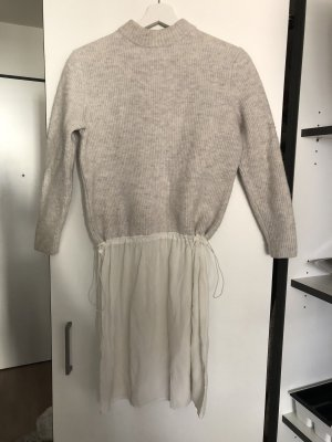 COS Sweater Dress natural white-light grey