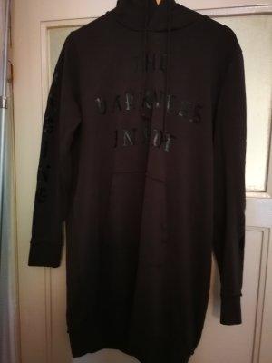 H&M Vestido de tela de sudadera negro-gris oscuro