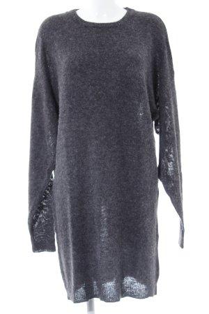 Abito maglione grigio scuro-grigio puntinato stile casual
