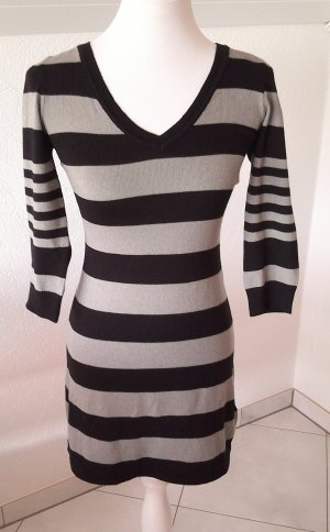 H&M Sweater Dress black-silver-colored