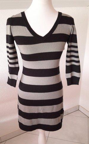 Pulloverkleid,H&M,schwarz-grau gestreift,Gr.S/XS