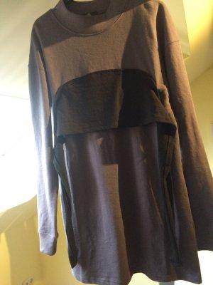 Pulloverkleid  lässige Passform - schwarzes Blockdesign auf der Vorderseite