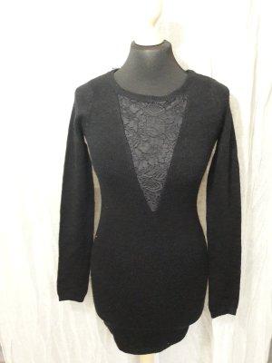 Pulloverkleid mit Spitze Langärmliges Kleid