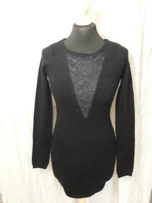 Pulloverkleid mit Spitze Langärmliges Kleid Herbstkleid