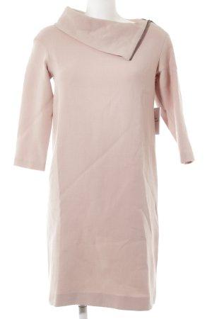 Vestido tipo jersey rosa elegante