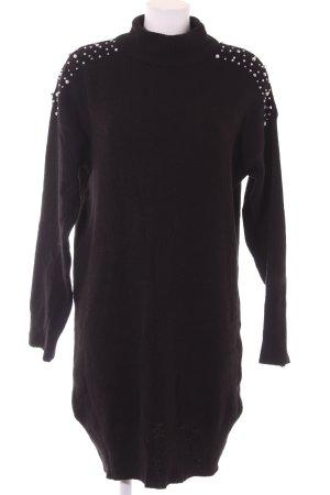 Abito maglione nero stile casual