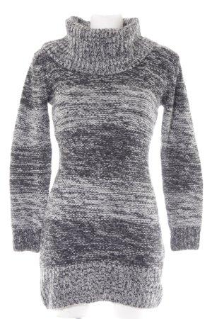 Sweaterjurk zwart-grijs gestippeld casual uitstraling