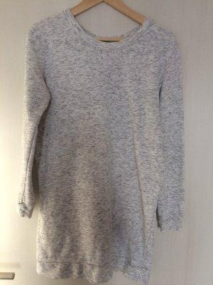 Pulloverkleid/Sweatkleid grau meliert XS