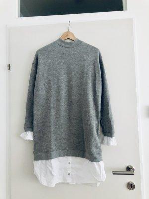 edc by Esprit Robe pull gris-blanc