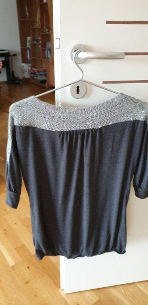 Pullovershirt mit Angoraeinsatz