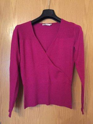 V-Neck Sweater magenta viscose