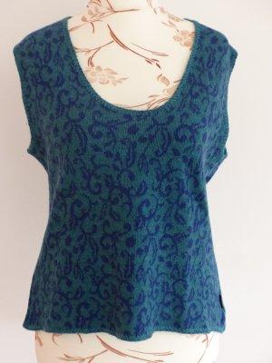 Pullunder 100 % Schurwolle in blau türkis von Deerberg Größe M