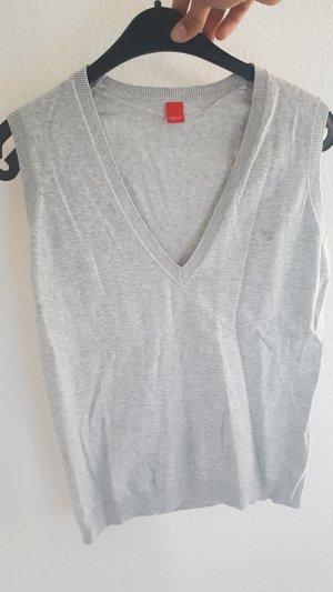 Esprit Cardigan en maille fine gris clair