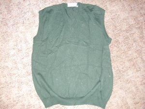 Fine Knitted Cardigan dark green cotton