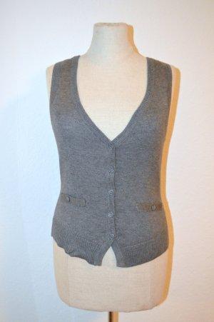 H&M Fine Knitted Cardigan grey polyacrylic