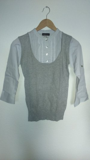 FlashLights Fine Knitted Cardigan white-light grey cotton