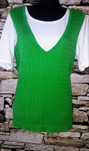 Montego Fine Knitted Cardigan green cotton
