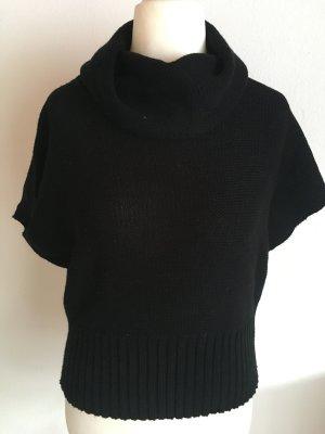 Pullunder Poncho Pullover Rollkragen schwarz Strick Gr. M TOP