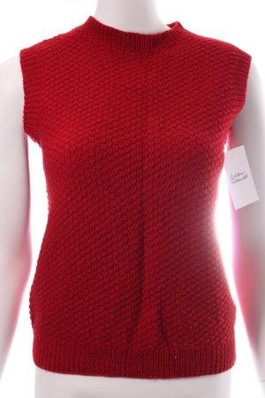 Pullunder rot schlichter Stil