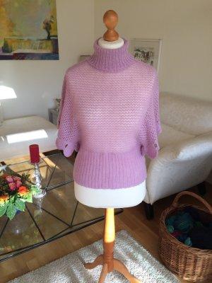 Sisley Cardigan en maille fine mauve-rose clair
