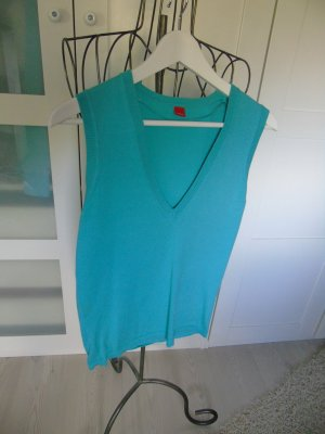 Esprit Cardigan en maille fine bleu cadet