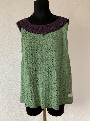 Odd Molly Cárdigan de punto fino verde claro-lila