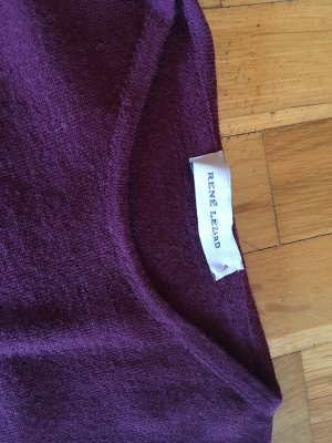 René Lezard Fine Knitted Cardigan bordeaux