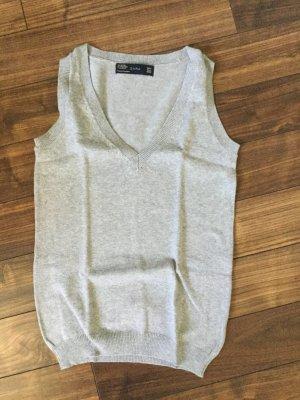 Zara Cardigan en maille fine gris clair-gris