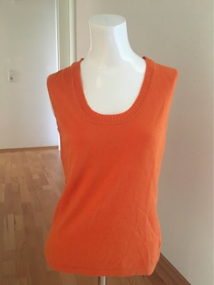 Zero Cardigan en maille fine orange